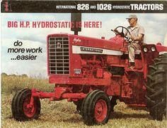 1970 IH Hydro 826 and 1026 Tractors