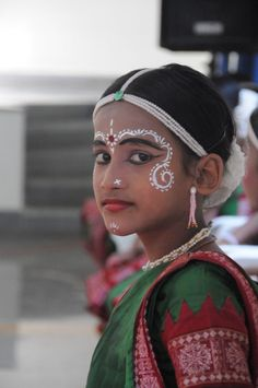Young girl dressed up for a celebration.