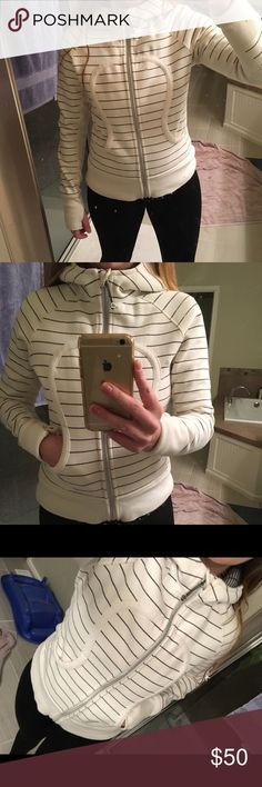 Women's Lululemon hoodie size 8 Great condition! Thicker and very warm, size 8. Falls right at the hip (so not the long style). lululemon athletica Tops Sweatshirts & Hoodies
