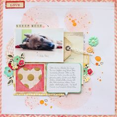 #scrapbooking page featuring #CratePaper Fourteen collection - by Janna Werner