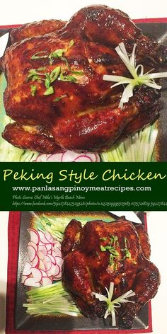 How to Cook Peking Style Chicken is part of Peking Style Chicken Panlasang Pinoy Meat Recipes - If ordinary fried chicken seems boring to your taste, I think cooking a Peking style fried chicken is the one you are looking for Peking Chicken, Chinese Chicken, Smoked Chicken, Fried Chicken, Chicken Wontons, Duck Recipes, Meat Recipes, Asian Recipes, Cooking Recipes