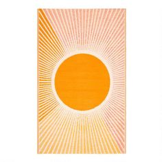 Featuring our exclusive sunrise design in yellow, red and orange hues, our reversible 4x6 indoor-outdoor Rio floor mat is crafted with 90% recycled material. Durable and easy to clean with a soft woven texture, this versatile accent is perfect for refreshing high-traffic rooms, wooden decks, balconies and patios. You can also roll up this lightweight floor mat to enjoy its warm double-sided sunshine pattern at the park or beach. World Market Store, Cost Plus, Baby Mine, Purchase History, Wooden Decks, Shopping World, Affordable Home Decor, Indoor Outdoor Rugs, Outdoor Spaces