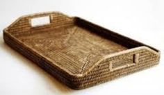 Woven rattan tray, by William - Wayne & Co. - William - Wayne & Co. on Taigan  Decorate with ribbon and orchids