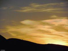 Nacreous clouds o Nubes de Nácar...nunca las había visto Viera, Clouds, Celestial, Sunset, Outdoor, Sunsets, Outdoors, Outdoor Living, Garden