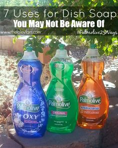 7 Uses for Dish Soap House Cleaning Tips, Cleaning Hacks, Cleaning Products, Palmolive Dish Soap, Diy Household Tips, Antibacterial Soap, Dish Detergent, What To Use, Diy Cleaners