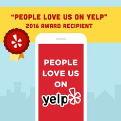 """Carpet Culture has been awarded with """"People Love Us On YELP"""" 2016 award! Earning the love of local customers isnt easy. We thank you all for showing your love and supporting us. Dog Food Online, Our Love, Dog Food Recipes, Awards, Thankful, Grateful, Learning, People, How To Make"""