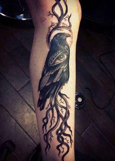 40 Amazing Raven Tattoos – Tattoo
