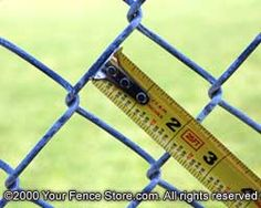 how to measure chain link  2 inch Mesh Chain Link Fence