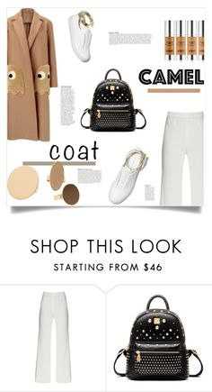 """""""Wear a Camel Coat!"""" by sofirose ❤ liked on Polyvore featuring Anya Hindmarch, M. Gemi, MANGO, Anja, backpack, camel, whitesneakers and camelcoat"""