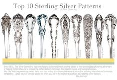 photos of silverware patterns | Sterling silver flatware - sterling silverware at affordable prices ...