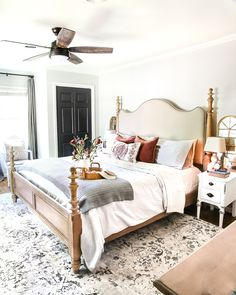 8 Fall Decorating Tips on a Budget + Fall Home Tour 2017   blesserhouse.com - 8 fall decorating tips for a small budget with ways to shop smart in clearance aisles and thrift stores + a full autumn home tour. Fall bedroom