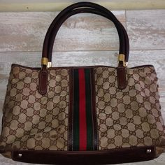 gucci guccissima web bag stripe green red tote bag gucci guccissima web bag stripe green red tote bag   PReOwned  No dust bag  Has owner wear due to rubbing   Scuffed and exposed pipping   Has feet   Handles are excellent Gucci Bags Totes