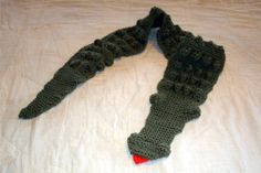 Alligator scarf for children by ColumbiaValleyCrafts on Etsy, $20.00
