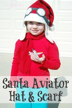 Need something fun to make for the holidays? Do your kids love Disney Planes? How about a Santa Aviator Hat and Scarf!!