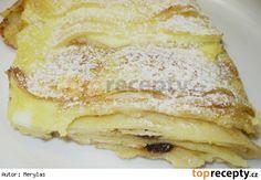 Zapečené palačinky s tvarohem Sweet Dishes Recipes, Dessert Recipes, Desserts, Czech Recipes, Ethnic Recipes, Look Body, Smoothies, Sweet Tooth, Pancakes