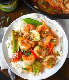 This Shrimp with Hot Garlic Sauce is family approved. Comes together in just minutes, so its perfect for those busy weeknight meals. Best Shrimp Recipes, Shrimp Salad Recipes, Shrimp Recipes For Dinner, Shrimp Dishes, Avocado Recipes, Seafood Recipes, Asian Recipes, Cooking Recipes, Healthy Recipes