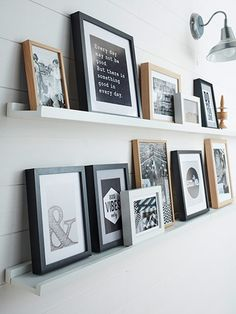 4 Astute Tips: Long Floating Shelves Diy floating shelf ideas paint.Floating Shelf Above Bed Mirror white floating shelves kitchen.Large Floating Shelf Home. Black Floating Shelves, Industrial Floating Shelves, Floating Shelf Decor, Floating Shelves Bathroom, Headboard With Shelves, Picture Shelves, Ikea Picture Ledge, Photo Ledge, Picture Frame