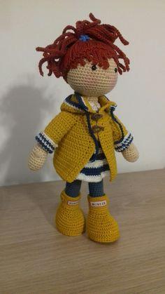 Amigurumi doll pattern dorothy the lovely girl Crochet Doll Pattern, Crochet Toys Patterns, Stuffed Toys Patterns, Crochet Dolls, Doll Patterns, Crochet Teddy, Cute Crochet, Beautiful Crochet, Knit Crochet