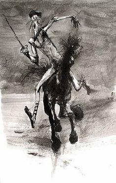 Pajot - A la recherche de Don Quichotte, croquis et dessins.