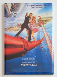View to a Kill FRIDGE MAGNET movie poster james bond 007 roger moore