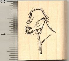 LaMancha Goat Rubber Stamp *** Click on the image for additional details.