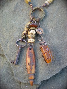 Amulet Necklace for an Urban Shaman by maggiezees on Etsy, $215.00