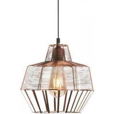 Nowoczesna miedziana lampa wisząca Hippolyte
