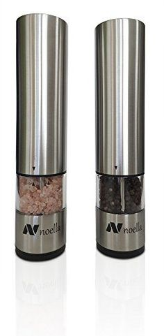 #1 Automatic Salt and Pepper Grinder Set: Best Electric Pepper Mill and Salt Grinder on the Market By Noella - with LED Light, Quality Stainless Steel Construction - 100x Better Than Manual Grinders - http://spicegrinder.biz/1-automatic-salt-and-pepper-grinder-set-best-electric-pepper-mill-and-salt-grinder-on-the-market-by-noella-with-led-light-quality-stainless-steel-construction-100x-better-than-manual-grinders/