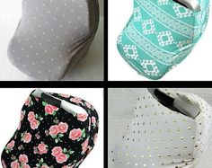 Stylish and modern Car Seat Cover. Doubles as a nursing cover too! Over 100 styles. www.gingersunshine.etsy.com