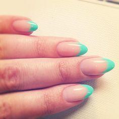 Gorgeous colour-french tips!