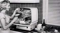 The first dishwasher was patented in 1886 by Josephine Cochrane, but they were used only on enterprises because of the huge amount of water needed for its operation.