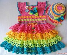 Pretty Crochet Dress for Girl - Free Crochet Diagram