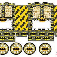 Batman: Caja con forma de Carruaje para Imprimir Gratis.