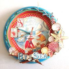 A beautiful By the Sea altered clock by Katie Zoey Ho! #graphic45 #alteredart
