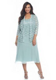 Rabbit Rabbit Rabbit  Plus Size Lace and Sequin Jacket Dress