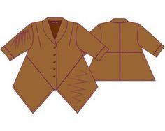 "lagen look  patterns | Lagenlook Bluse ""Misaki"", 4 Kompaktgrößen 15,00 € Lagenlook Hemd ..."
