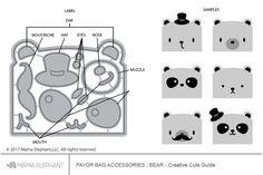 Favor Bag Accessory - Bear