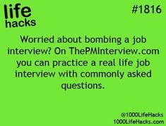 Life Hack for practicing a real life job interview