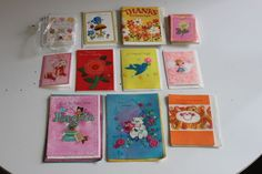 *buy vintage greeting cards off ebay, great gift idea for those grandmothers in life who love to still send out snail mail*  VINTAGE GREETING CARD LOT OF 50+ Thank You Birthday Wedding Scrapbooking | Collectibles, Paper, Vintage Greeting Cards | eBay!