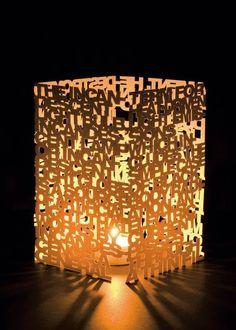 Luminária de letras!  #decoracao