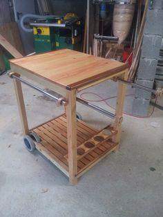 Kitchen Cart, Bbq, Backyard, Table, Gardens, Home Decor, Photos, Furniture Ideas, Kitchen Trolley