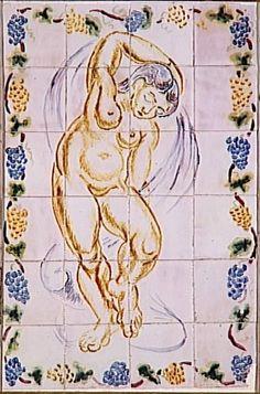 """Dançarino ou ninfa"", 1907 por Henri Matisse (1869-1954, France)"
