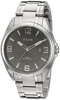 Men's Wrist Watches - Pulsar Mens Basic Dress Quartz SilverTone and Stainless Steel Watch Color Model PH9095 ** You can get additional details at the image link. (This is an Amazon affiliate link)