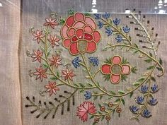 Embroidery Designs, Elsa, Vintage World Maps, Texture, Quilts, Stitch, Flowers, Embroidered Clothes, Bullion Embroidery