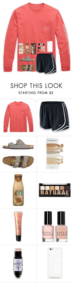 """""""Sorry for not posting"""" by mmprep ❤ liked on Polyvore featuring Vineyard Vines, NIKE, Birkenstock, NYX, Bobbi Brown Cosmetics and Benefit"""