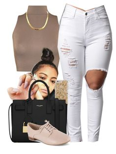 """""""Sylvie Finesse"""" by trillest-fashion on Polyvore featuring WearAll, Yves Saint Laurent and Clarks"""