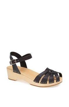 Free shipping and returns on Swedish Hasbeens 'Debutant' Cross Strap Sandal at Nordstrom.com. A contoured wooden footbed lends back-to-basics comfort to a Swedish-crafted sandal styled with swirling leather straps.