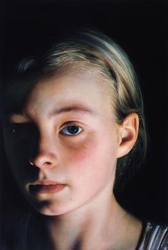 IT'S NOT A PHOTO!!!!!  Gottfried Helnwein  Head of a Child 5 1998   100 cm x 160 cm   Óleo y acrilico sobre lienzo   Vicki and Kent Logan   San Francisco