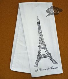 eiffel tower salt and pepper shakers | Eiffel Tower French Kitchen Towel