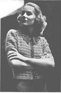 "Free 1930s vintage knitting pattern from ""Knitting is Play"" by Ward's Fine Yarns. https://picasaweb.google.com/ratherdoknitting/KnittingIsPlayWardsFineYarns165234#"